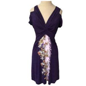 Kinder Aggugini Purple Open Shoulder Dress NWOT